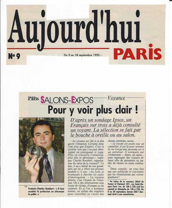 La presse parle du celebre voyant rambert un des for Salon voyance paris